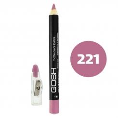 رژ لب مدادی گاش مدل مداد خط چشم و خط لب ضدآب شماره 221 Gosh Matte Lip Liner & Eye Liner Lipliner Waterproof Pencil