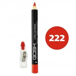 رژ لب مدادی گاش مدل مداد خط چشم و خط لب ضدآب شماره 222 Gosh Matte Lip Liner & Eye Liner Lipliner Waterproof Pencil