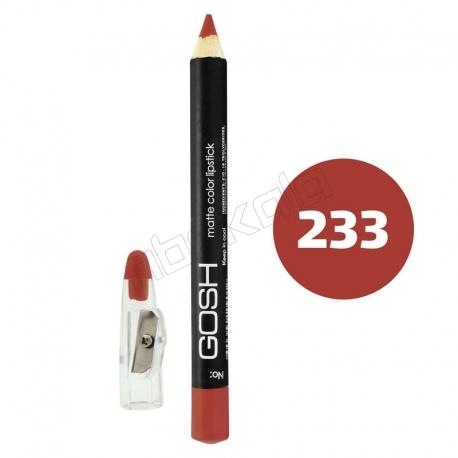 رژ لب مدادی گاش مدل مداد خط چشم و خط لب ضدآب شماره 233 Gosh Matte Lip Liner & Eye Liner Lipliner Waterproof Pencil