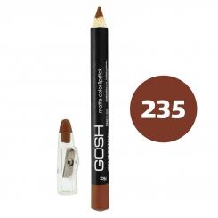رژ لب مدادی گاش مدل مداد خط چشم و خط لب ضدآب شماره 235 Gosh Matte Lip Liner & Eye Liner Lipliner Waterproof Pencil