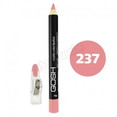 رژ لب مدادی گاش مدل مداد خط چشم و خط لب ضدآب شماره 237 Gosh Matte Lip Liner & Eye Liner Lipliner Waterproof Pencil