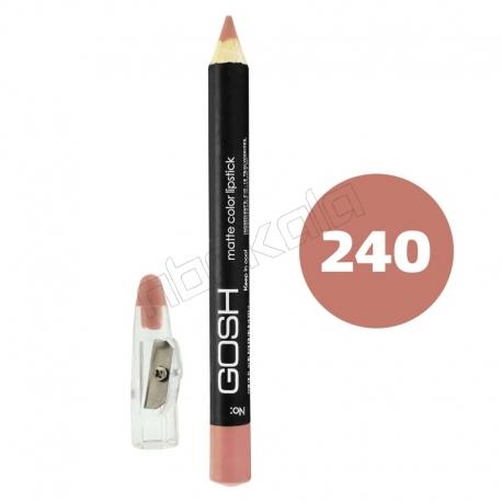 رژ لب مدادی گاش مدل مداد خط چشم و خط لب ضدآب شماره 240 Gosh Matte Lip Liner & Eye Liner Lipliner Waterproof Pencil