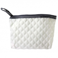کیف لوازم آرایش مدل چرم سفید White Leather Make Up Bag