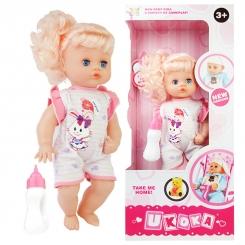 عروسک 40 سانتی یوکوکا با قابلیت پخش صدای نوزاد مدل Ukoka Doll 8013