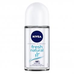 مام ضدتعریق زنانه نیوآ مدل Fresh Natural حجم 50 میلی لیتر Nivea Fresh Natural Roll-On Deodorant For Women 50ml