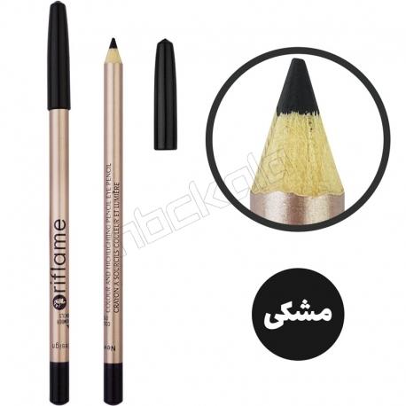 مداد ابرو و چشم ریفلیم مدل مداد مشکی ضدآب Riflame Black Waterproof Eye Liner Pencil