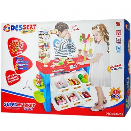 ست اسباب بازی سوپر مارکت دسرت ارجینال خارجی Dessert shop play