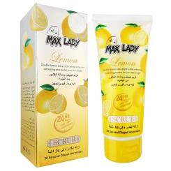اسکراب لایه بردار فوری لیمو مکس لیدی مدل تیوپی 100 گرم Max Lady Lemon Scrub