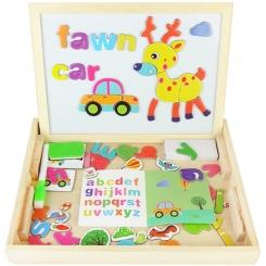 تخته وایت برد و جورچین مگنتی حروف و اشکال آموزش کودکان Cartoon Letter Puzzle Board YX-9016