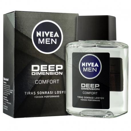 افتر شیو نیوآ Deep Dimension حجم 100 میلی لیتر NIVEA Men Deep Dimension After Shave Fluid 100 ml