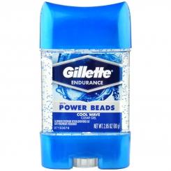 مام ژیلت دانه دار مدل ژل مردانه زنانه کول ویو 48 ساعته Gillette Endurance Cool Wave Clear Gel 80 gr with Power Beads