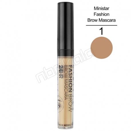 ریمل ابرو مینی استار مدل FASHION بیست و چهار ساعته Ministar Fashion Brow Mascara 24 HR