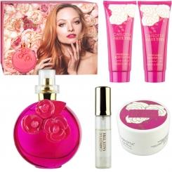ست هدیه زنانه والنتینا پینک صورتی کارلوتا ادو تویلت و لوسیون مدل CARLOTTA VALUE TIME