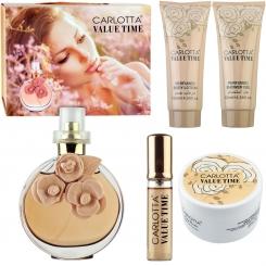 ست هدیه زنانه والنتینا والنتینو پودرکارلوتا ادو تویلت و لوسیون مدل CARLOTTA VALUE TIME
