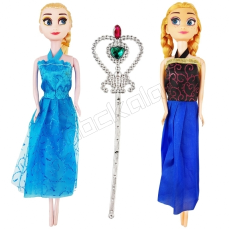 ست عروسک فروزن مدل السا و آنا و عصای جادویی Olaf`s FASHION ADVENTURE 423