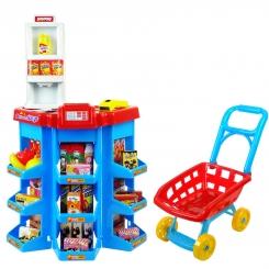 ست اسباب بازی سوپر مارکت دسرت با چرخ خرید بیبی بورن مدل 00841 Dessert shop play BabyBorn Supermarket