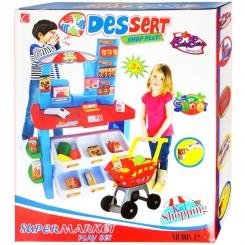ست اسباب بازی سوپر مارکت دسرت با چرخ خرید بیبی بورن مدل 00842 Dessert shop play BabyBorn Supermarket