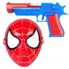اسباب بازی تفنگ و ماسک اسپایدرمن دودزا-مرد عنکبوتی SPIDER MAN 236-21A