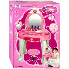 اسباب بازی میز آرایش با آینه و صندلی ژیونگ چنگ مدل Glamor Mirror Dresser 00825
