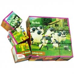 اسباب بازی پازل مکعبی 12 تایی 6 وجهی گلدونه Goldoone Cubic Puzzle