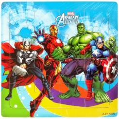 پازل چوبی اونجرز انتقام جویان 15 در 15 سانت خارجی Avengers Puzzle XJY-005
