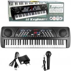 پیانو ارگ کیبورد ورک استیشن مدل 61 کلیده با میکروفون فول Electronic Keyboard Workstation SD-611