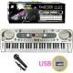 پیانو ارگ کیبورد ورک استیشن مدل 54 کلیده یو اس بی خور با میکروفون فول Electronic Keyboard Workstation MQ-824USB