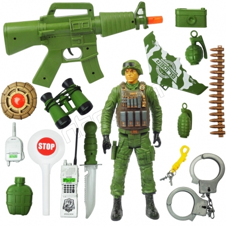 اسباب بازی ست تفنگ و سربازقهرمان نیروی ویژه REAL HEROES SPECIAL FORCES