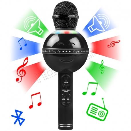 میکروفون اسباب بازی بلوتوثی بی سیم وایرلس هندهلد کی تی وی HANDHELD KTV Wireless Microphone HIFI Speaker WS-878