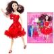 عروسک ست باربی با ست لباس و کفش Fashion Girl Barbie No.1020