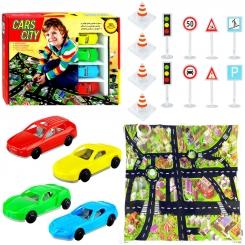 بازی و آموزش راهنمایی و رانندگی شهر ماشین ها سایز 70×100 سانتی متر Cars City