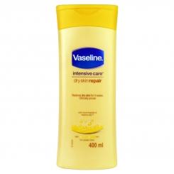 لوسیون بدن وازلین مدل اینتنسیوکر ترمیم پوست خشک حاوی عصاره جو دوسر حجم 400 میلی لیتر Vaseline intensive care dry skin repair