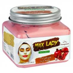 اسکراب لایه بردار پوست مکس لیدی مدل ماسک انار 300 میلی لیتر Max Lady Pomegranate Scrub
