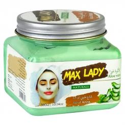 اسکراب لایه بردار پوست مکس لیدی مدل ماسک آلوئه ورا 300 میلی لیتر Max Lady Aloe Vera Scrub