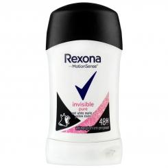مام رکسونا صابونی مردانه زنانه اینویزیبل پیور 48 ساعته بادوام Rexona Deodorant Invisible Pure 40 ml