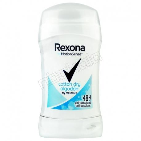 مام رکسونا صابونی مردانه زنانه کاتن درای الگودون 48 ساعته بادوام Rexona Stick Cotton Dry Algodon MotionSense 40 ml