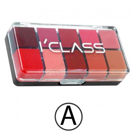 پالت رژ لب آی کلاس مدل A سری 10 رنگ I'CLASS Lip Gloss Palette A 10 Colors