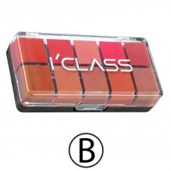 پالت رژ لب آی کلاس مدل B سری 10 رنگ I'CLASS Lip Gloss Palette B 10 Colors