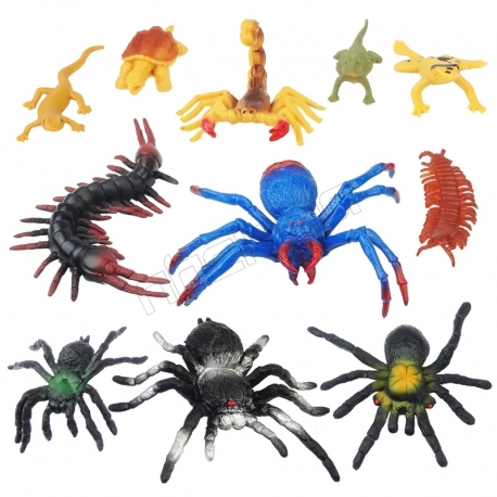 ست فیگور حشرات و حیوانات سمی خارجی مدل INSECT WORLD 961845