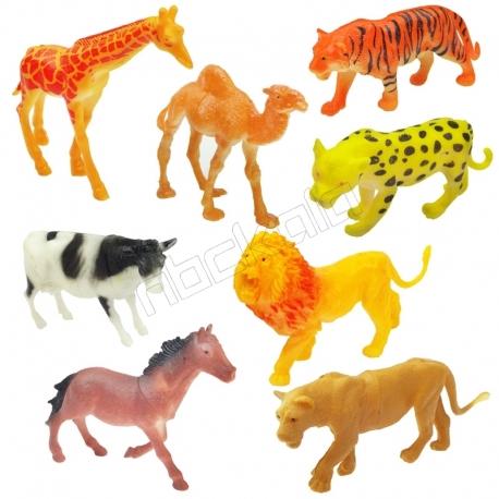 ست فیگور حیوانات درنده و گیاه خوار خارجی ANIMAL WORLD LE TENG TOYS