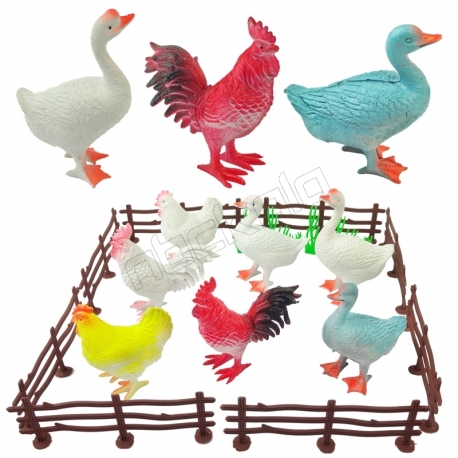 ست بازی آموزشی فیگور پرندگان مزرعه خارجی MY FRAM