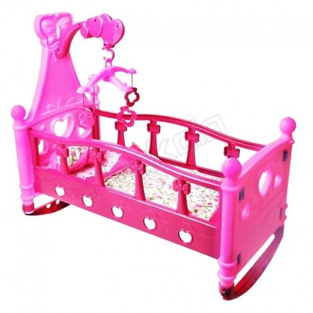 گهواره و تخت خواب عروسک بی بورن با آویز تخت
