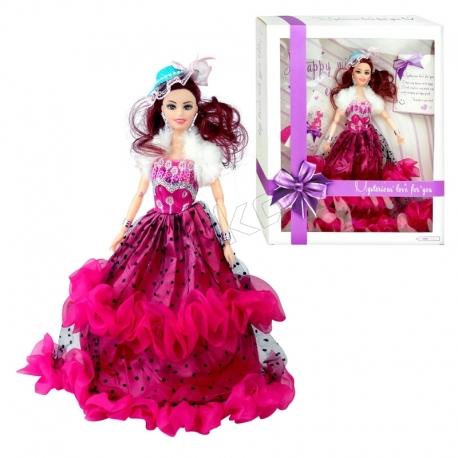 عروسک باربی با لباس و کلاه باربی سرخابی Eternal Love Barbie No.A1909