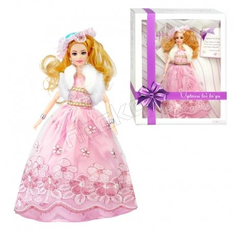 عروسک باربی با لباس و کلاه باربی صورتی Eternal Love Barbie No.A1909