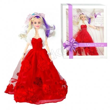 عروسک باربی با لباس و کلاه باربی قرمز Eternal Love Barbie No.A1909