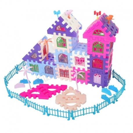 بازی ساختنی بلوک های ساختمانی 120تکه خانه شادی