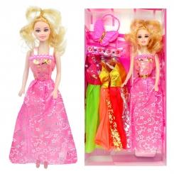 عروسک ست باربی با ست لباس و کیف پروانه ای باربی صورتی Pretty Barbie No.6603