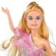 عروسک ست باربی 17 پارچه با تاج و عصا و صندل و جواهرات باربی طوسی Barbie No.888