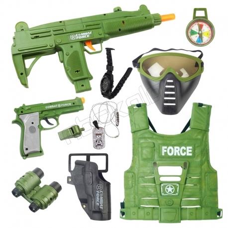 ست تفنگ و کلت ارتشی با جلیقه SPECIAL FORCE SET POWER GUN 33480