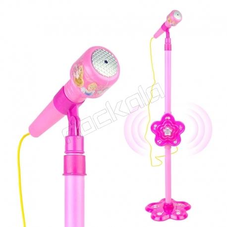 میکروفون اسباب بازی پایه دار سیندرلا راپونزل مدل Microphone MP3 Star Party